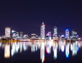Perth: Cityscape at night