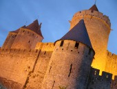 Carcassonne, night