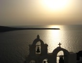 Cheap flights to Santorini: Sunset