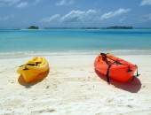 Maldives, canoes