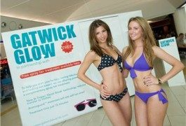 Free tans for pasty travellers at Gatwick Airport