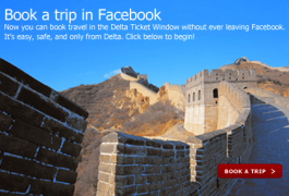 Delta offers airline ticket booking through Facebook