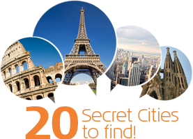 Secret Cities: Guess the city and win 2 flight tickets!