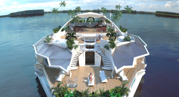 Holiday on a luxe floating island