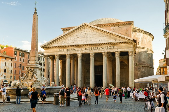 The Pantheon exterior in Rome
