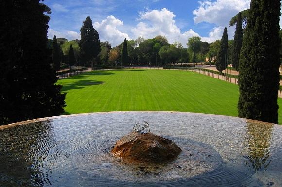 Villa Borghese gardens in Rome