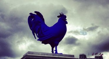 It's a cock-up in London's Trafalgar Square