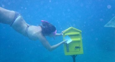 On the other side of the world, an underwater post office…