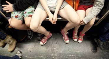 Pants! Londoners lose their trousers to ride the tube
