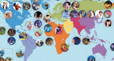 Map: a guide to Disney's cartoon locations