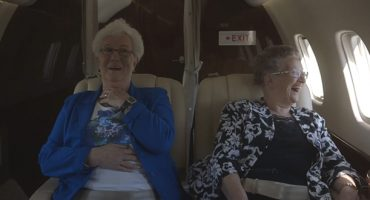 VIDEO: two grannies take-off on their first flight
