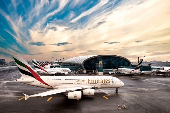 Emirates plane airport