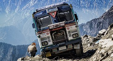 This video of a bus ride in the Himalayas is insane
