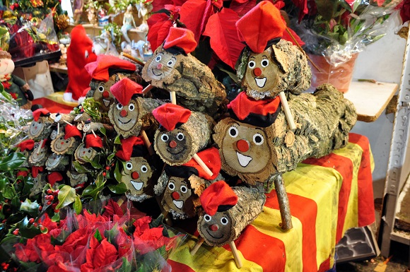 Barcelona christmas market caga tio