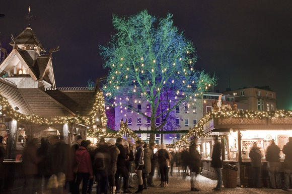 Cologne christmas market lights