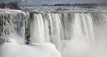 Brrr… Niagara Falls freezes over