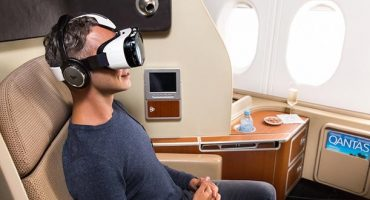 Virtual in-flight entertainment onboard Qantas