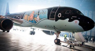 Tintin takes to the skies with Brussels Airlines