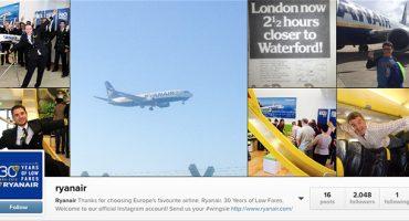 Ryanair joins Instagram!
