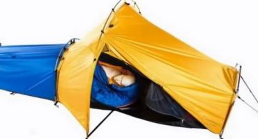 All-in-one spacesuit tent