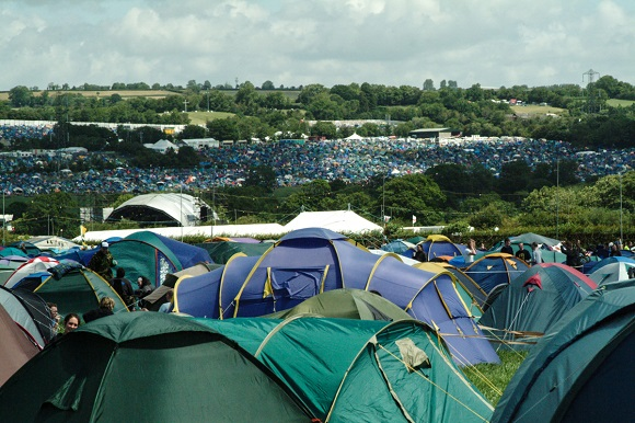Festival camping site