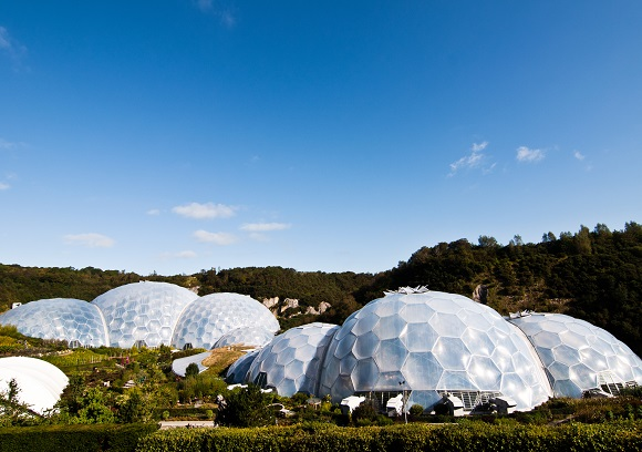 Exterior of The Eden Project in Cornwall