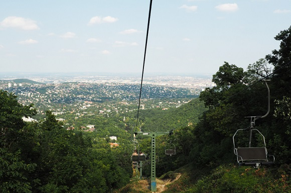 Zugliget chairlift in Budapest