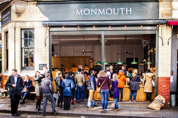 Monmouth Coffee exterior, London