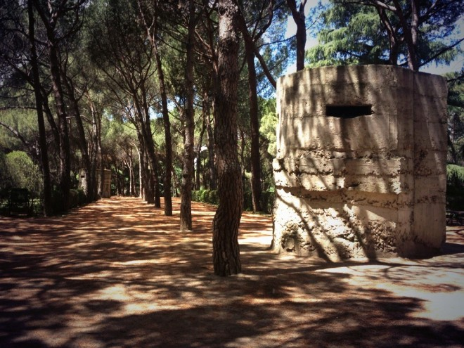 Bunkers at the Parque del Oeste in Madrid
