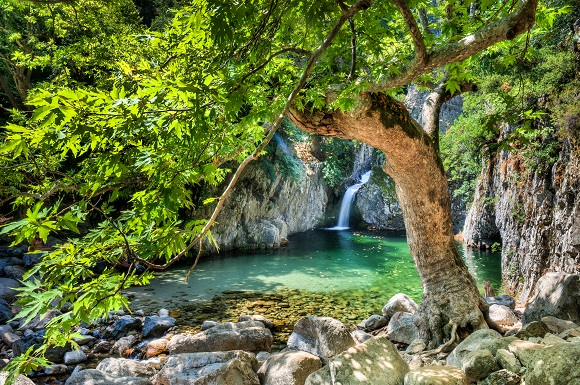 Samothrace waterfall