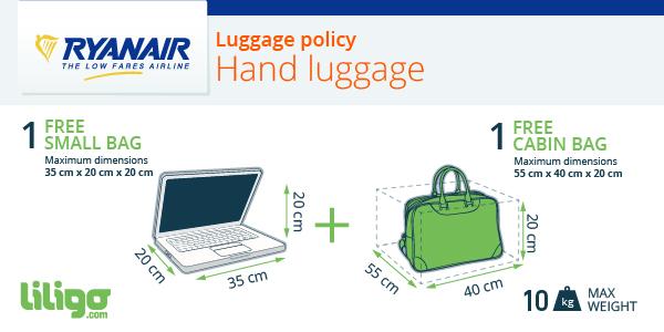 Hand lugagge Ryanair